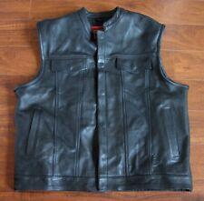 Rare Quality Buffalo  Black Leather Gear Motorcycle Apparel Mens XXL