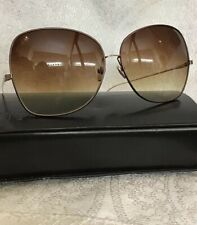 35c86262f81 Dita Sunglasses Large Brown Lens Brass Trim Gold Arms