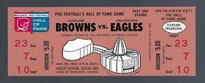 VINTAGE 1967 NFL CLEVELAND BROWNS vs PHILADELPHIA EAGLES FULL FOOTBALL TICKET
