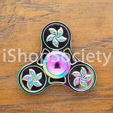 Rainbow Flower Fidget Tri Spinner Hand Spinner EDC Gyro Anxiety Toy ADHD -USA-