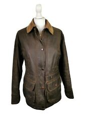 Barbour Ladies L345 Beauchamp Vintage Distressed Wax Working Jacket, UK 10 EU 36