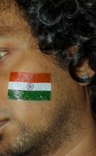 16 x Indian, india flag face tattoo  stickers cricket fans favourite indian flag