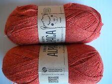 Drops Alpaca Uni Colour  100% alpaca yarn, Rust, lot of 2 (183 yds ea)