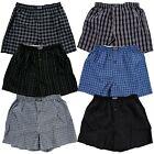 3 6 12 Boxers Men Knocker Boxer Trunk Plaid Checker Shorts Underwear Lot Cotton