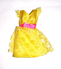 Barbie Fashion Yellow Dress For Model Muse Barbie Dolls fn751