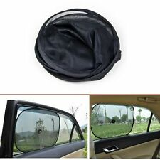 AU NEW 2 Pcs Foldable Side Window Screen Mesh Sun Shades Suction Cups for Car