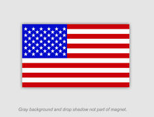 "American Flag Refrigerator Magnet 4.5"" tall x 8"" long"