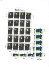 1996 MNH Europa sheets, Faeroer, Färöer, Faroer, Faroe Islands, postfris