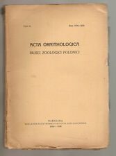 Acta Ornithologica Musei Zoologici Polonici Tom2 1936-1939  - Ornithology Poland