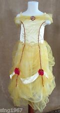 5 / 6 Disney Store Belle Princess costume deluxe Beauty and the Beast yellow red