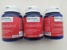 3 BOITES nat&form cholesterol q10 LEVURE DE RIZ ROUGE COENZYME  180 gélules