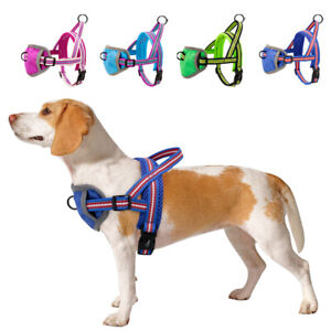 Reflective Soft Mesh No Pull Dog Harness Small Large Dogs Front Clip Walk Vest