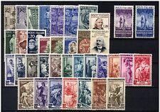 Italia repubblica 1950 annata completa 37V mnh