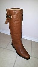 Reduced from $549 COACH Vivica Saddle Signature Riding Boots Womens  9.5 B Italy
