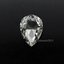 20p color teardrop faceted crystal glass sew on flatback rhinestones Multi size