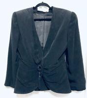 Vintage Lillie Rubin Blazer  Black Tassle Front Closure Size 8 Womens