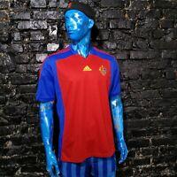 Basel 1893 Training Jersey Football Shirt Red Blue Adidas Trikot Mens Size XL