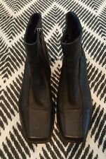 COLORADO Leather Black Ankle Boots Size 6