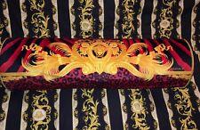 VERSACE CUSHION MEDUSA BOLSTER PILLOW LEOPARD TIGER SOFA BEDDING DECOR $600
