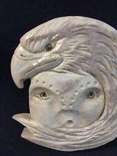 Alaskan Made Eagle Mask Carved on Moose Antler