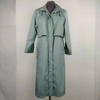 Chiango By Fleet Street Vintage Trench Coat Jacket Womens Petite Size 8P