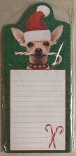 Christmas Chihuahua Dog Santa Puppy Magnetic Note Pad Holiday Gift New