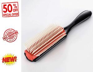 Denman Cushion Brush Nylon Bristle 9-Row Detangle Distribute ِProduct-Curly Hair