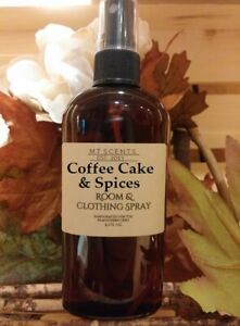 Coffee Cake & Spice room and clothing spray, handcrafted, made to order, 4.5oz