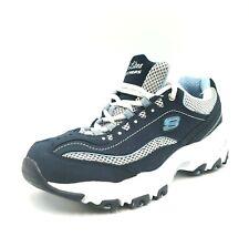Skechers D'Lites Womens Shoes Size 6 Navy Blue Air Cooled Memory Foam Insoles