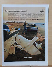 1969 magazine ad for Chrysler boat engines - Photo of Chrysler outboard engine
