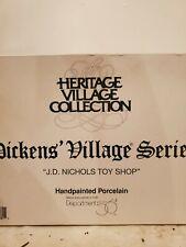 Dept 56 - J. D. Nichols Toy Shop - Dickens' Village Series - 58328 Nib