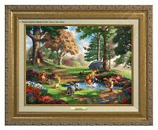 Thomas Kinkade Winnie The Pooh I Canvas Classic (Gold Frame)