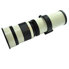 420-800mm f/8.3-16 Telephoto Lens For Panasonic Micro 4/3rds Mount Cameras White