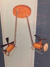 Massive Deckenleuchte Hubschrauber silber/orange max.2x50W, LED möglich