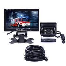 "7"" LCD Monitor Reversing Rear View Camera CCD 4Pin for Truck Caravan Bus Parking"