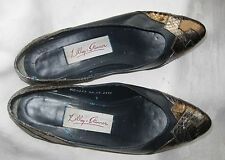 """LILLEY & SKINNER Classic"""" cute"""" shoes, Navy, Gold & Silver Sz;4. beautiful."""