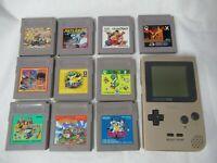 L243 Nintendo Gameboy Pocket Console Gold & Game Soft Japan GB GBC