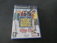 High School Musical Sing Italien PLAYSTATION 2 PS2 Jeu Excellent État Pal