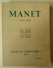 Manet 1932, Art Catalogues, catalogue Manet, Manet paul valery, paul valery,