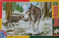 BEGINNER KIDS - D-TOYS 'FOREST WOLVES' PUZZLE – WOLF & CUB!  NEW
