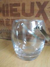 Seau à glace / glaçons en cristal de Sèvres ice bucket , arts de la table bar