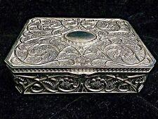 Beautiful Vintage Art Nouveau Baroque Style Silverplated Jewelry Box