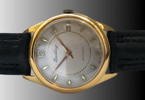 VTG BREITLING GENEVE BIDYNATOR AUTOMATIC 18KTS GOLD PLATED CASE FROM 1940 APROX.