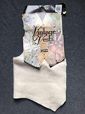 Vintage Vests Adult Plus Size 18-22 Ivory Craft Machine Washable Acrylic Fabric