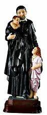 "St. Vincent de Paul  8.5"" Inch Resin Statue Patron of  Charities & Hospitals NEW"