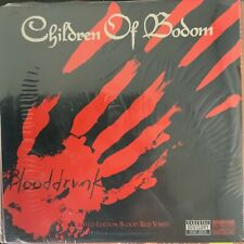 "CHILDREN of BODOM-BLOODDRUNK-2008 7"" SINGLE-LIMITED RED VINYL-IMPORT-SEALED"