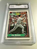 CAL RIPKIN ALL STAR (HOF) 1992 Topps # 400 GMA Graded 10 Gem Mint