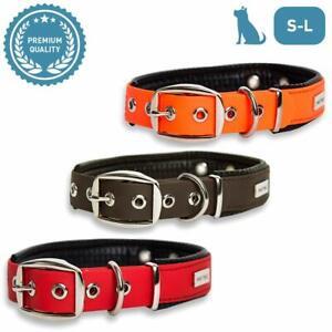 PetTec Trioflex Hundehalsband mit Polsterung // Gr. S - L // Rot, Braun, Orange