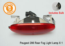 Peugeot 206 Rear Fog Light CC SW Lamp Back Centre Hatchback With bulb New 6351K5