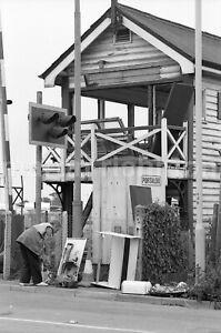 Goring by Sea Signal Box Demolition 9.7.88 John Vaughan Negative RN109